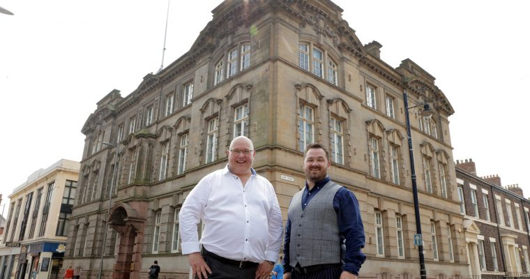 Councillor Graeme Miller, leader of Sunderland City Council and Mark Black, chief executive at Adavo Workspace